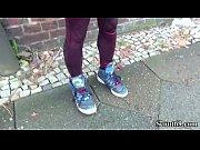 German Scout - Skinny Emo Teen Luna in Street Porn Casting Thumbnail