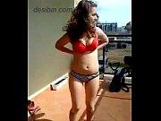 Polish teen stripping on balcony