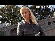 Pretty amateur blonde eurobabe Monika banged for money