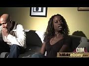 Ebony babe sucks and fucks several white dudes 20