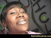 black girl initiated in the art of gloryhole.