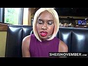 Risky Fast Food Restaurant Amateur Blowjob By Big Tits Ebony Vixen Msnovember