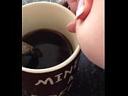 my gf making breast milk coffee