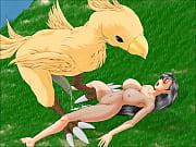 Tifa Lockheart x Chocobo, Monsters &amp_ Tentacles (Final Fantasy)