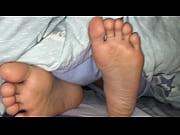 Girlfriend&#039_s candid feet when sleeping