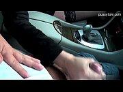 Woman shows panties amp gives handjob while driving