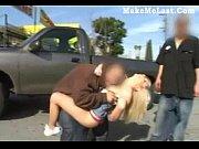 blonde babe banged in public