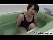 cute japanese babe taking a bath.