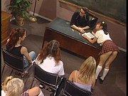 Sexy Schoolgirls Hannah Harper and Mika Tan Share Teacher'_s Big Cock FFM