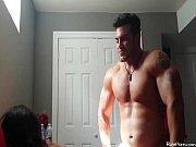 bodybuilder fucking his slim hottie