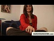 Paige Turnah gives harsh cbt handjob