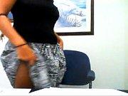 hot blonde milf teases on webcam.