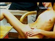 Hot skinny brunette masturbate in wierd room. www.cams22.com