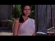 zeenat aman sexy rain dance wet transparent saree.
