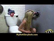Nasty Babe Sucks Cock in Bathroom Gloryhole 24