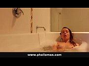 amateur hot brunette taking bath and fingering her.