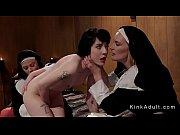 Dominatrix nuns anal banging brunette slave