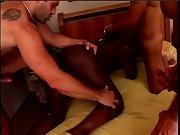 Sexy ebony whore Wana Brasil gets fucked by three white dicks in all holes