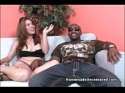 Amateur slut rides a big black dick