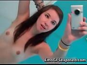 emo cellphone striptease