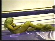 two bikini clad bitches wrestle in ring