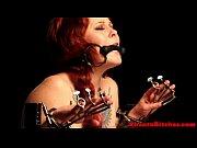 lezdom mistress restrains gagged sub