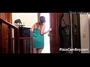 Spanish woman order pizza www pizzacamboy com