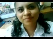 Indian girl enjoying in office