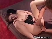 Beautiful asian slut gets bukakke after