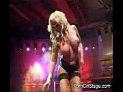 Big tits pornstar on stage toy Thumbnail