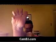 gorgeous blonde cam babe feet show CamBJ.com