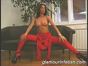 Glamorous babe spreading legs