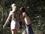teen lesbian outdoor fun