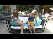 Horny lesbian teen Heather Starlet licks her best friend Delilah Blue pussy