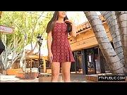 upskirt no panties busy public street