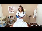 Nurse Riley Reid helps patient with sperm bank donation