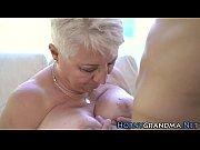Grandmas big tits jizzy