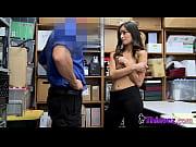 Big fake tits tranny with big cock anal fucks