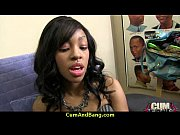 ebony chick drowned in cum 28