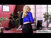 office sluty girl with big melon tits bang.