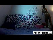 thumb alison masturbates in bed