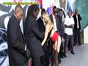 Blonde Gives Oral Service To Black Guys