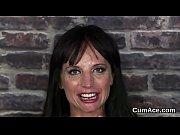 kinky bombshell gets jizz shot on her face.