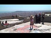 Toned blonde gangbanged in public bdsm