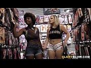 Daizy Cooper and Carmen Valentina Interracial Gloryhole Sex