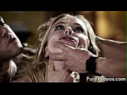 Pulled teen facialized in taboo maledom trio