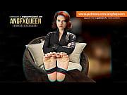 Black Widow feet foot fetish wrinkled soles JOI