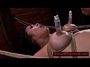 Mia Li handles machine while being bonded