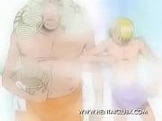 anime hentai nami e vivi tomando banho one piece