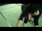Girl going for body slam.MP4